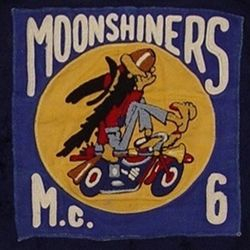 Jim #6 Moonshiners MC club patch