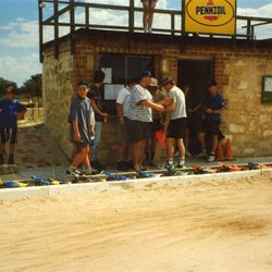 Line up before the main. Note the wooden floor on the rostrum