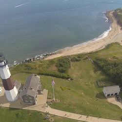 Stunning Montauk lighthouse (NY) from above