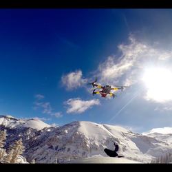 Quadcopter over Bear Creek, Telluride, Co