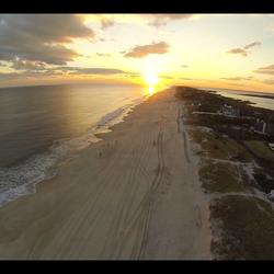 Beach sunset over Southampton, NY