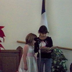 Genesis and Holly singing praises to our Lord.