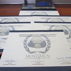 6 individual awards for MUNSC delegation to MOSTIMUN 2014