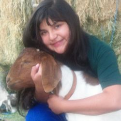 Melina D. as gorgeous as her goat!