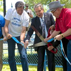 Dignitaries cut the ribbon for the 2016 Nevada State Fair