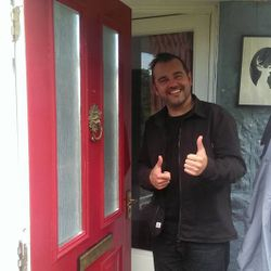 Locked out, this customer was till we got him in and saved him £55 by using Newquay Locksmiths