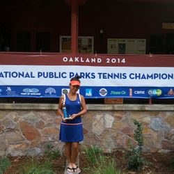 Tameka Peterson, August 16th-24th 2014, National Public Parks Championship Girls 14s Singles Champion.