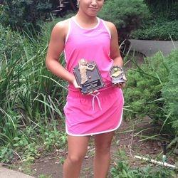 Tameka Peterson, June 23-27 2014, Saratoga Junior Open Girls 14s Singles Champion / Mix 16s Doubles Finalist.