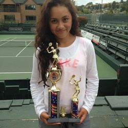 Tameka Peterson, May 25-27 2013, Seascape Memorial 3-Day Open Girls 12s Singles Champion / Doubles Finalist.