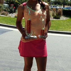 Tameka Peterson, May 11-19 2013, Sylvano Tennis Academy Mother's Day Junior Open Girls 12s Singles & Doubles Champion.