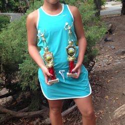 Tameka Peterson, July 26-29 2014, Diamond Hills 14s & 12s Age Up Championships Girls 14s Singles Finalist / Girls 14s Doubles Finalist.