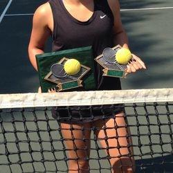 Tameka Peterson, January 4-12 2014, Cupertino Junior Open Girls 14s Singles & Doubles Champion.