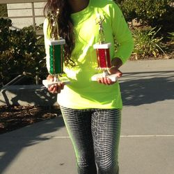 Tameka Peterson, December 7-15 2014,Sylvano Tennis Academy Winter Junior Open Girls 14s Singles & Doubles Champion.