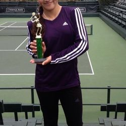 Tameka Peterson, February 16-18 2013, Seascape President's 3-DAY Open Girls 14s Doubles Champion.