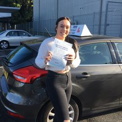 Megan Passed 1st Time.