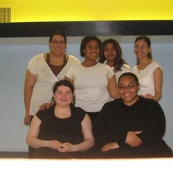 The first six members of Omega Phi Delta Sorority.