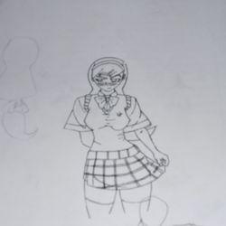 A random school girl I drew.