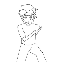 Fire Prince Lineart. By myself.