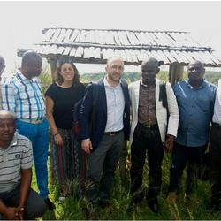 Consortium members doing the Chikunguma surveillance in Congo