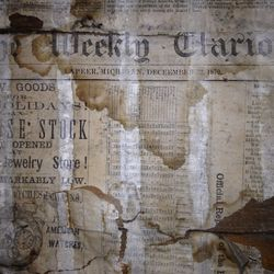 The original walls upstairs in the Hadley Parlour contain a bit of history.  Come in and see original 1800's newspapers that were discovered behind the drywall.