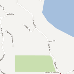 Green patch is where the hike is located