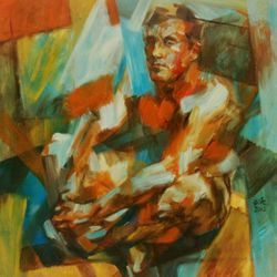 Nature Boy – Oil on Canvas – 100 x 100cm
