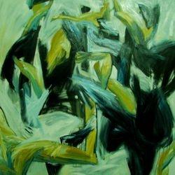 Jump for Joy  150 x150cm Oil on Canvas