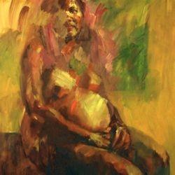 Awaiting  Oil on Canvas  100 x120cm