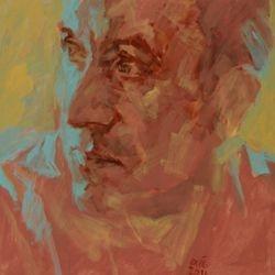 'Graham' 50 x 50cm Acrylic on canvas SOLD