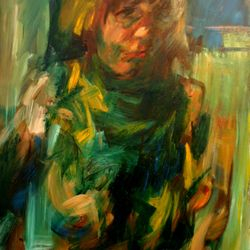 'Girl with Necklace' 101 x 76 cm Oil on Canvas SOLD