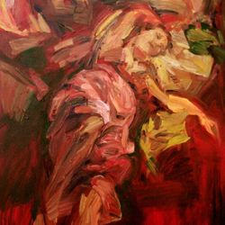 Brid in Bed 100 x 150cm Oil on Canvas SOLD