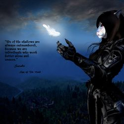 Are you one with the shadows? Then contact me and we shall talk --Sarabii Of The Hand