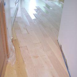 Project: Nauru Tower Wood: Maple Water Damage / Repair 10/2012
