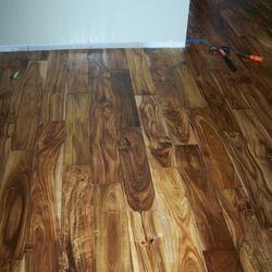 Project: Old Kalani Wood: Distressed Acacia Water damage / Repair 08/2012