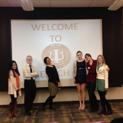 Psi Chi Temple Chapter's Executive Board (E-board) from left to right: Melissa Chipollini, Brooks Rudy, Edna Ollquist, Rachel Middleton, Kimberly Sahms, Allison Horwith Missing: Jennifer DiBartolomeo, Ashley Goodwin