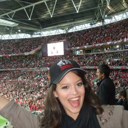 After singing at Wembley Stadium