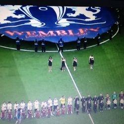 Singing at Wembley Stadium - Champions League finals 2011