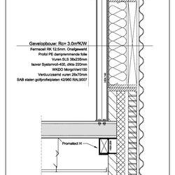 Detailtekening dakopbouw - Hoofdkantoor Haribo Benelux