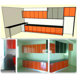Formica laminated body,Acrylic laminated door and glass door,  aluminium-framed, marble table top for bar table.