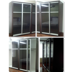 Formica laminated body, glass sliding door.
