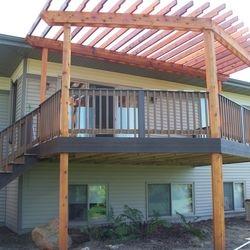 Trex Deck and Cedar Pergola