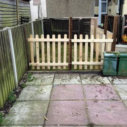 had picket fences made to order.