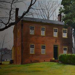 Old Salem Home Acrylic on Canvas