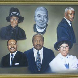 Founder's of the Church Oil on Canvas