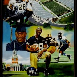 David Moore at Wake Forest Oil on Canvas