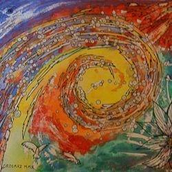 """""""Vortex Spiral"""" Watercolour 11'X14"""" $50"""