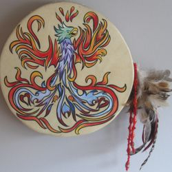 Custom Shamanic hand drums  By Gayle Crosmaz-Brown and in-store specials