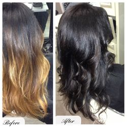 Light ombre to dark ombre