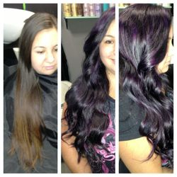 Hair Color Before and Afer