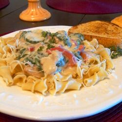 Campanelle with Vegetables and Herb Cream Sauce